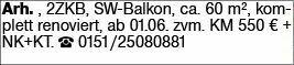 2-Zimmer Mietwohnung in DA-Arheiligen (34291)