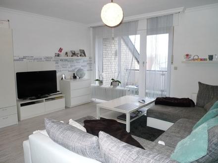 Über den Dächern von Gütersloh! Moderne 1-Zimmer Maisonette-Wohnung mit 2 Balkonen und Einbauküche
