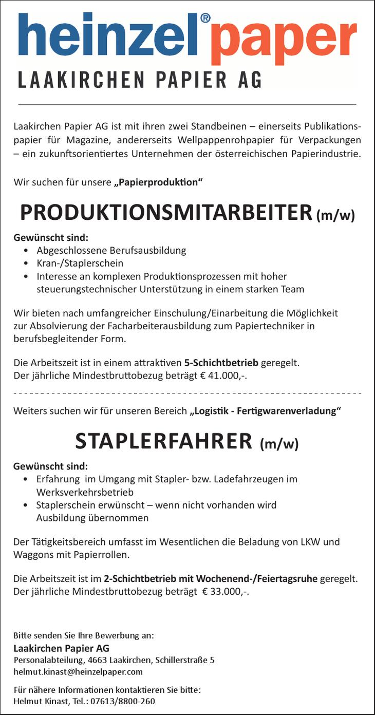 Laakirchen Papier AG ist mit ihren zwei Standbeinen – einerseits Publikationspapier für Magazine, andererseits Wellpappenrohpapier für Verpackungen – ein zukunftsorientiertes Unternehmen der österreic