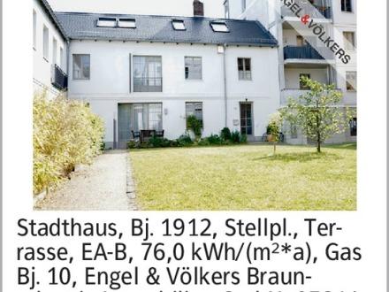 Anzeigentitel Stadthaus, Bj. 1912, Stellpl., Terrasse, EA-B, 76,0 kWh/(m²*a),...