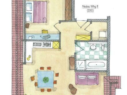 Entzückend und gemütlich: Neubau-Dachgeschoss-Wohnung