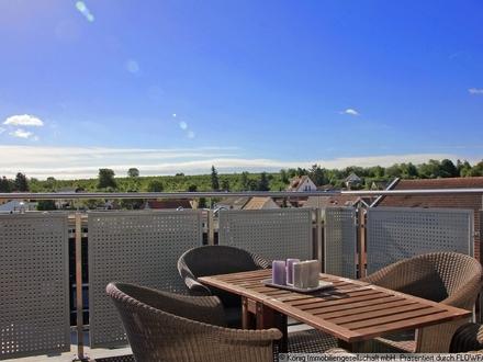 KÖNIG Immobilien: Großzügige, gemütliche Dachwohnung mit 20 m² Dachterrasse