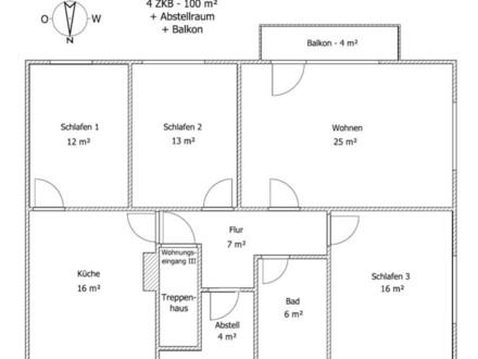 OG-Wohnung (100m²) Erstbezug nach Sanierung