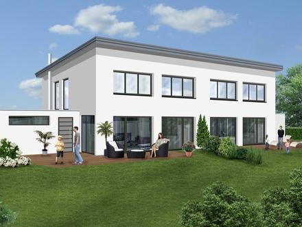 Ziegelmassivbauweise: Helle Doppelhaushälfte im KfW55-Standard