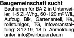 Baugemeinschaft in Unterweiler