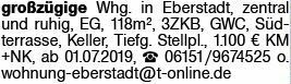 3-Zimmer Mietwohnung in Eberstadt (64297)