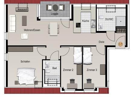 4-Zimmer-Dachgeschoss-Wohnung auf über 100 m²