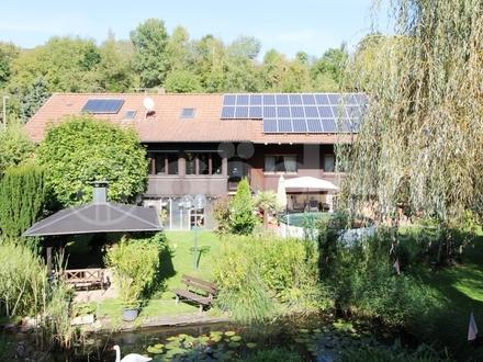 Urlaub zu Hause! Besonderes Einfamilienhaus mit Wintergarten, Pool, Wellnessbereich, Grillstation...