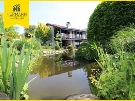 Architektenhaus am Mainufer von Maintal, unverbaubare Lage Naturschutzgebiet