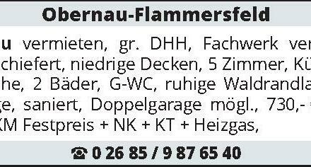 Obernau-Flammersfeld zu vermieten