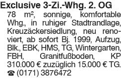 Exclusive 3 Zi. Whg. 2. OG