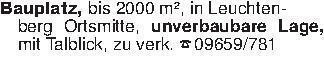 Bauplatz, bis 2000 m², in Leuc...