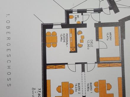 Grundriß Bürofläche