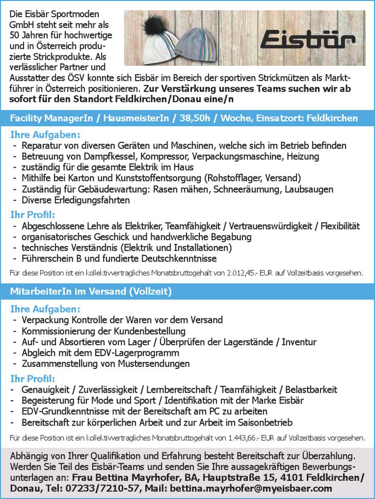 Die Eisbär Sportmoden GmbH steht seit mehr als 50 Jahren für hochwertige und in Österreich produzierte Strickprodukte. Als verlässlicher Partner und Ausstatter des ÖSV konnte sich Eisbär im Bereich de