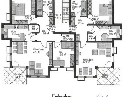 2-Zimmer Erdgeschosswohnung mit Terasse und Garten in Ingolstadt