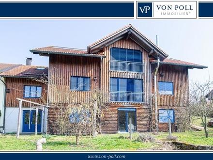Einmaliges Holzhaus in ruhiger Siedlungslage!