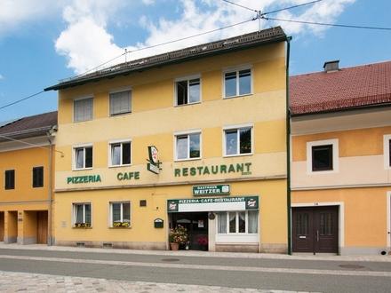 Bad Eisenkappel - Zentrum: Wohn- und Geschäftshaus mit Potential am Hauptplatz