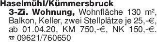 Haselmühl/Kümmersbruck 3-Zi. W...