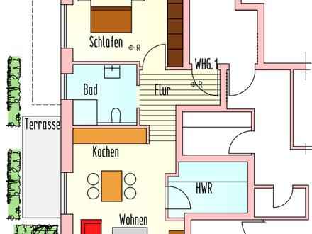 Schnuckelige Erdgeschosswohnung mit Terrasse parallel zur Bloherfelder Straße!