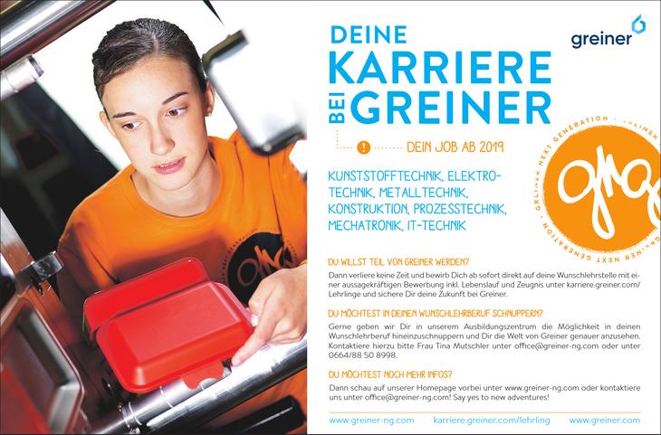 DU möchtest noch mehr infos? Dann schau auf unserer Homepage vorbei unter www.greiner-ng.com oder kontaktiere uns unter office@greiner-ng.com! Say yes to new adventures!