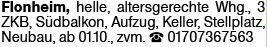 3-Zimmer Mietwohnung in Flonheim (55237)