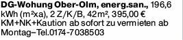 2-Zimmer Mietwohnung in MZ-Marienborn (55127)
