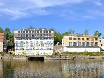 Direkt a.d. Saale - 4-R-Whg. in der Alten Mühle der Cröllwitzer Actien-Paprfabrik