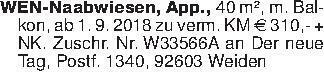 WEN-Naabwiesen, App., 40 m²,...