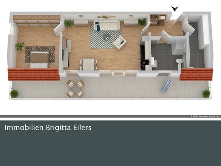 Ab sofort - Ruhige und zentrale Lage: Barrierefreie 2 Zimmer-Wohnung mit Einbauküche und Aufzug!