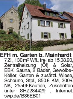 Gepflegtes Einfamilienhaus mit Garten und zusätzlicher Wiese