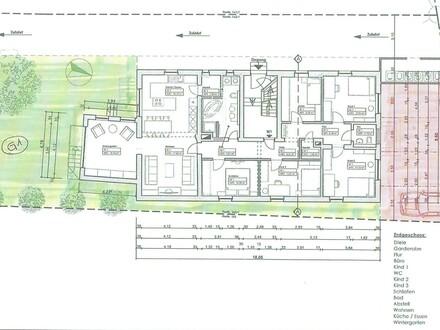 Sanierte 7-Zimmer-EG-Wohnung mit Garten in Kemmern