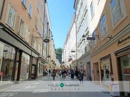 Geschäftslokal in Salzburgs begehrtester Fußgängerzone