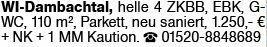 4-Zimmer Mietwohnung in Wiesbaden (65193)