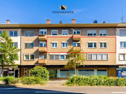 Große helle Wohnung mit zum Teil flexibler Zimmeraufteilung im Zentrum von Reutlingen Garage möglich