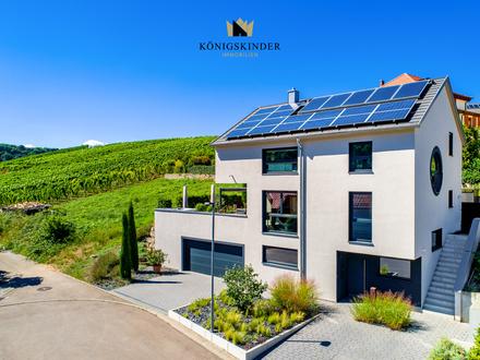 Top gepflegtes, freistehendes Architektenhaus in Aussichtslage von Hessigheim