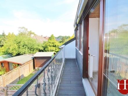 Niedliche Wohnung für ruhigen Bewohner mit Balkon und Gartenanteil