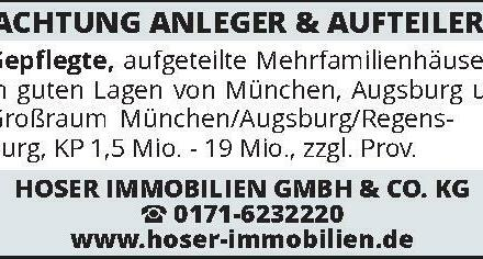 ACHTUNG ANLEGER & AUFTEILER!