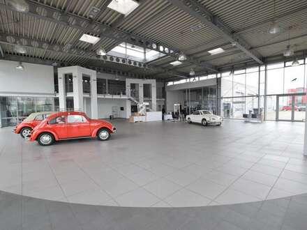 Ehemaliges Autohaus:Ausstellungs-Werkstatt und Freiflächen zu vermieten!!!
