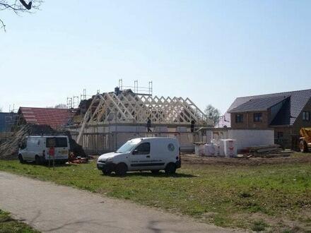 Die ersten Häuser stehen
