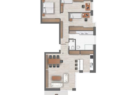 4 Zimmerwohnung -106 m² Wfl - Balkonn