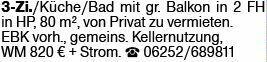 3-Zimmer Mietwohnung in Heppenheim (64646)