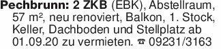 Pechbrunn: 2 ZKB (EBK), Abstel...