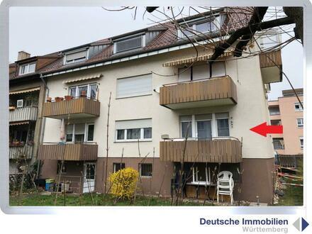 Renov.bedürftige 2- Zimmer Etagenwohnung (HP) in Stuttgart- Obertürkheim