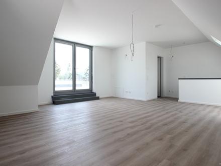 Erstbezug ! Penthouse-Wohnung mit offenem Küchenbereich,modernen Bad und Dachterrasse mit Weitblick