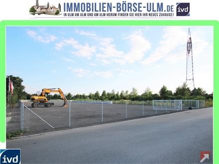 großes umzäuntes Gewerbegrundstück in Neu-Ulm