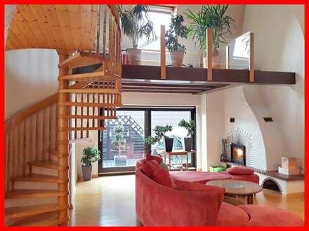 Wohnen wie im Haus - lichtdurchflutete Maisonette-Wohnung mit Galerie