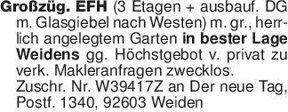 Großzüg. EFH (3 Etagen + ausba...