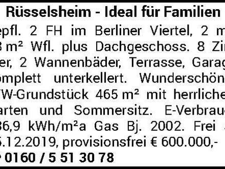 Rüsselsheim - DHH, Ideal für Familien