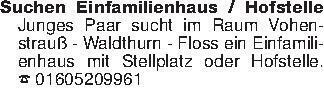 Suchen Einfamilienhaus / Hofst...