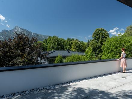 Hoch hinaus in Morzg! 140 m² Penthouse mit 76 m² Sonnenterrasse